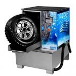 Мойка для колес грузовых автомобилей, с пневматической установкой загрузки колеса и подогревом WULKAN-500H