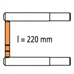 2 асимметричных плеча RX2 длиной 220 мм с 2 наконечниками